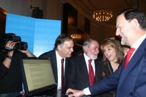 González Pons, Mayor Oreja, Cospedal, Aguirre y Rajoy